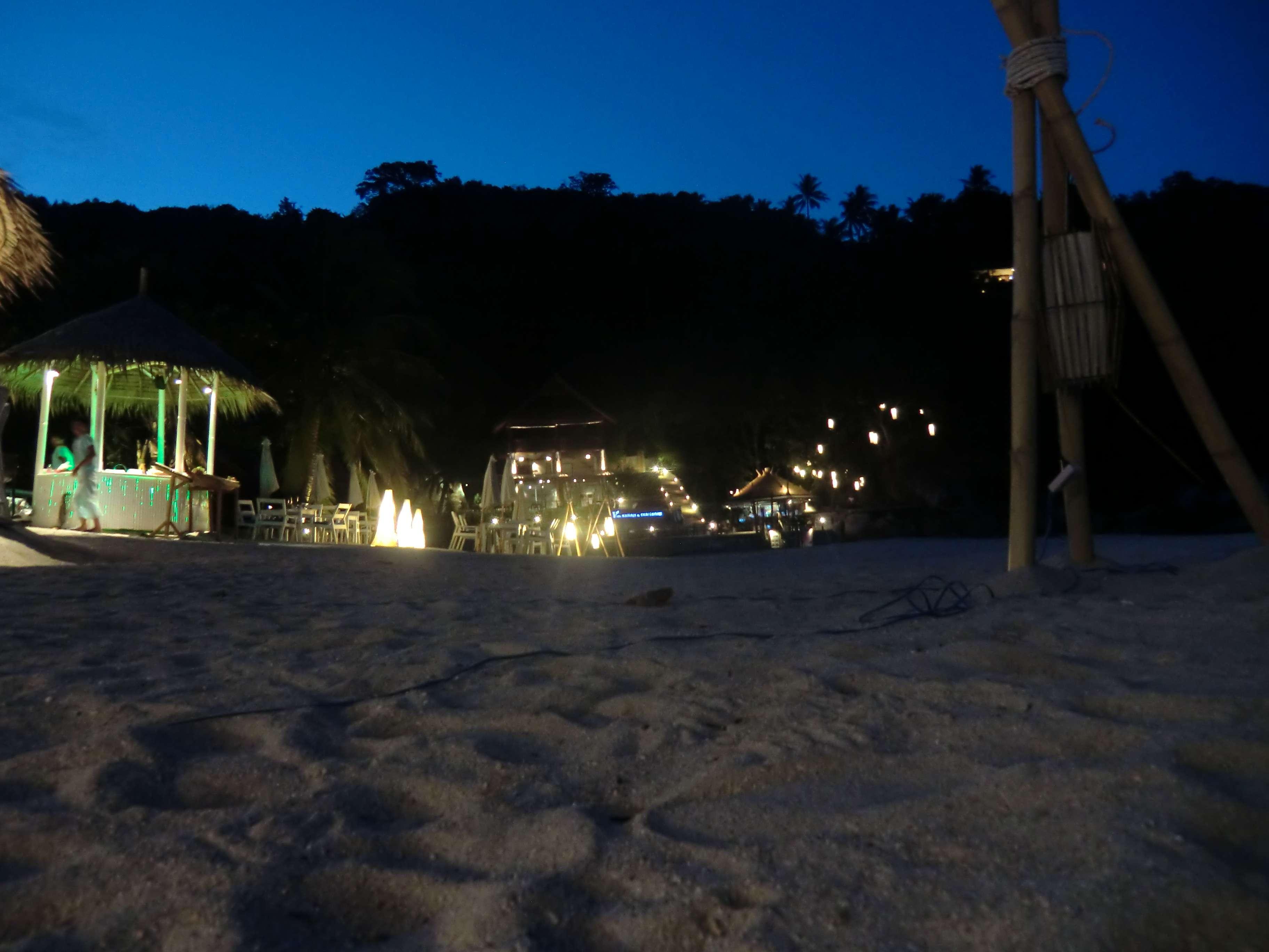 Abendstimmung am Strandabschnitt rechtsseitig