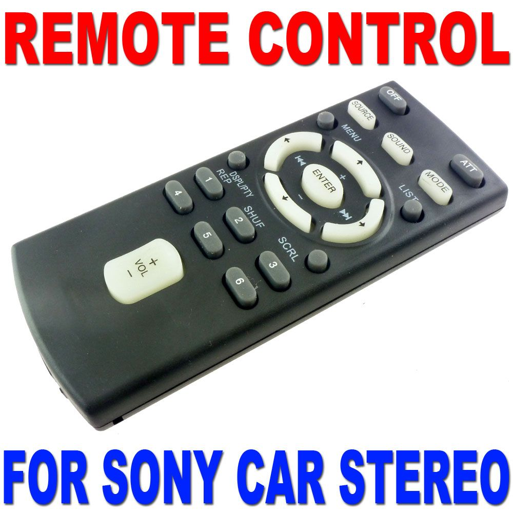 Remote Control For Sony Cd Mp3 Dvd Car Radio Stereo Most